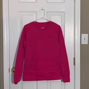 Pink nike therma fit crew neck